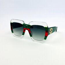 GUCCI GG0178S Transparent Green Oversize Square Acetate Women Eyewear Sunglasses