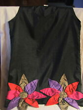 Vintage Retro Mod Twiggy Style Shift Dress Big Starburst Flowers Purple Pink Red