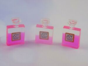 Dolls House Miniature resin perfume bottle-accessories-1:12 scale-pink