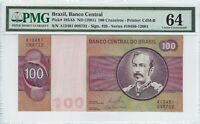 100 Cruzeiros Brasilien 1981 PMG 64 Choice UNC - Brazil P.195Ab