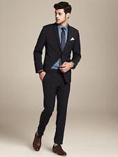 NWT Banana Republic Modern Slim Fit 2-Button Navy Suit, Blazer 44R, Pants 36/34