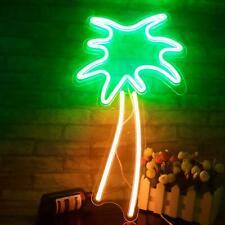 LED Neon Schild Palme Lampe Licht Wandleuchte Deko Nachtlicht USB Leuchte