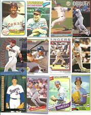 (100) Different Texas Rangers BB Cards NODUPES 77-08 Ryan Jenkins Rodriguez