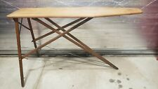 "Vintage Wood Folding Ironing Board Cocktail Table 52"" x 14"" Rustic Primitive"