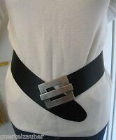 GÜRTELZAUBER Damengürtel Leder 7 cm breit in 3 Farben LEATHER BELT BW 85-145 cm