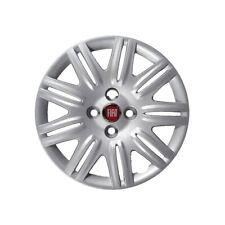 """Kit serie 4 copricerchi coppe ruota 14"""" logo rosso per Fiat Doblo cod 1275LR"""