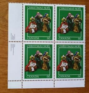 """Canada Mint Stamps 1982 MNH #975 LL Plate Block 60¢ """"Christmas"""""""