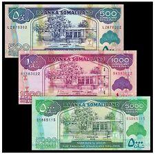 Somaliland Banknote 3pcs Set (UNC) 全新 索马里兰 3张 (500,1000,5000先令) 纸币