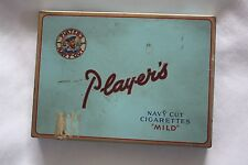 PLAYERS NAVY CUT CIGARETTES MILD VINTAGE TIN BOX ~ SMOKING Tobacco