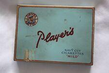 PLAYERS NAVY CUT CIGARETTES MILD VINTAGE TIN BOX ~ SMOKING Tobacco