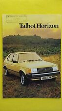 Talbot Horizon LS GL GLS SX 1.3 1.5 brochure sales catalogue January 1980 MINT