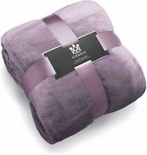 Kingole Flannel Fleece Microfiber Luxury Super Soft Purple Throw Blanket Twin