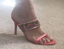 Exquisite Karen Millen Silk & Sequin High Heeled Shoes, Size 5 / 38