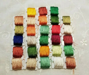Satin Embroidery Floss Lot Of 28 Unknown Make