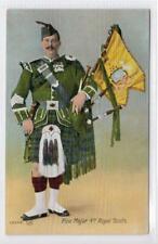 PIPE MAJOR, 4th ROYAL SCOTS: Military postcard (C43425)