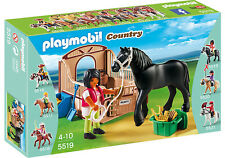 PLAYMOBIL 5519 Country Black Stallion With Stall