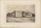 Etats-Unis, Washington, Treasury Building Vintage albumin print Tirage al