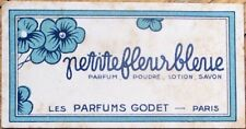 Perfume Card 1930s Art Deco 'Les Parfums Godet - Paris'