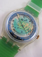 SAK102 New Swatch 1991 Automatic Time To Move Authentic Swiss Made