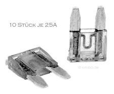 10 Stück 25A Auto-Sicherungen Mini KFZ Sicherungen Flachsicherungen