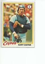 GARY CARTER 1978 Topps card #120 Montreal Expos NR MT
