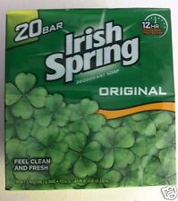 Irish Spring Deodorant Hand Bar Soap - 3.75 oz Bars - 20 ct Value Pack Original