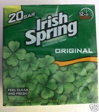 Irish Spring Deodorant Hand Bar Soap - 3.75 oz Bars - 20 ct Value Pack Original