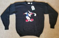 Vintage Aureus Disney Mickey Mouse Golf Club Black Sweater Large L NWT Brand New