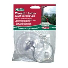 Adams Wreath Holder Giant Suction Cup with 2 Hooks – Hanger – UPVC Door – Large