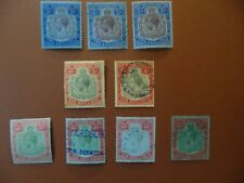 Bermuda KGV 1918-22, Wmk.MCA 2/-  5/-  10/- shades,  cv£1699 postally used.