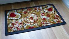 Paillasson tapis de sol Paillasson tapis 1794/01 Cuori CŒURS ROUGE BRUN 40x68cm