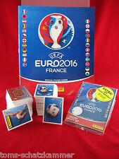 Panini Euro 2016 Satz komplett + 84 Update Sticker + Album Softcover EM 16