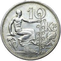 Tschechoslowakei - Münze - 10 Korun 1932 - Erhaltung ! - Silber