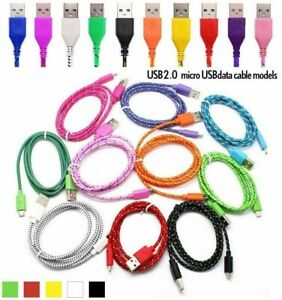USB to Micro USB Braided Cable Lead for Samsung HTC Kindle Sony UK FREE P+P
