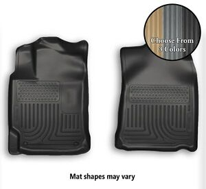 Husky WeatherBeater Front Row Floor Mats All Weather Liners - 3 Colors