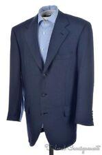 BRIONI Recent Piuma Blue Woven SILK WOOL  Mens Blazer Sport Coat Jacket - 42 R