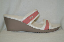 Crocs Women's Shima  Mushroom / Blossom Wedge Sandals - Size 11