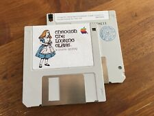 """Macintosh  """"TROUGH THE LOOKING GLASS"""" ALICE floppy disk 400K (1984) 690-5026-A"""