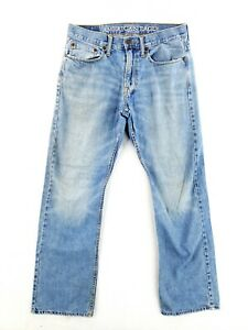 American Eagle 31x32 Relaxed Fit Blue Jeans Casual Classic Denim Faded Straight
