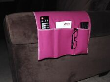 Chair Cozee TV Remote Control Holder Armrest Organizer Caddy-Pink Fuschia