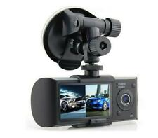 Car Van Dashboard Dual Camera Dash Cam Split Screen HQ DVR with GPS Stamp