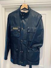 BARBOUR INTERNATIONAL Black Streak Mens ROADSTER Nylon Belted Jacket size L