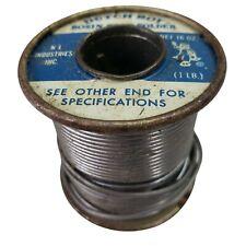 Dutch Boy Rosin Core Solder 1 Lb Spool Partial Vintage Original