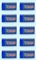 10PCS BLUE FABER CASTELL DUST FREE RUBBER ERASER PENCIL DRAWING ART GRAPHIC
