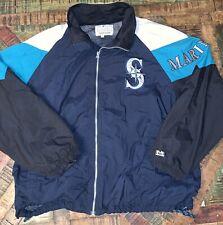 Vintage MLB 90s Seattle Mariners Mens L Large Windbreaker Full Zip Jacket Mirage