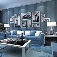 Modern Minimalist Gray Vertical Stripes Non-woven Wallpaper Bedroom Living room