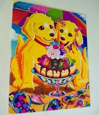 Lisa Frank Folder CASEY and CANDY Puppies NEW 2 Pocket School Folder Portfolio