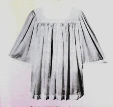Surplice Vestment White Square Collar Mens Washable  Perma Press S-XL Sizes