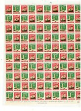 BOYSTOWN 1957 POSTER STAMPS, FULL SHEET