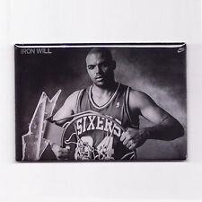 "CHARLES BARKLEY / IRON WILL 2"" x 3"" POSTER MAGNET (nike costacos champion sixers"